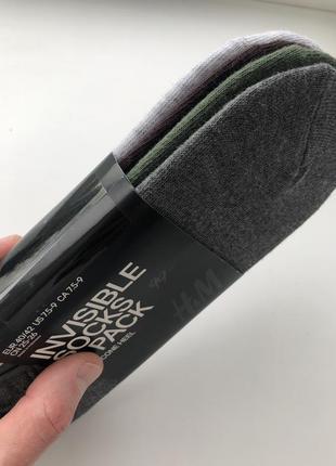 Мужские носки h&m , упаковка: 4 пары носков без верха / следы !