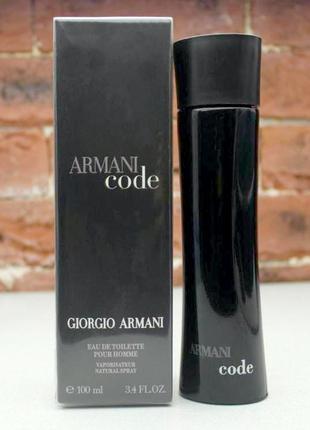 Giorgio Armani Code_Оригинал EDT_8 мл затест_Распив
