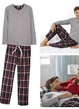 Теплый домашний костюм, мужская пижама livergy германия, регла...
