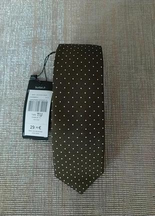 Новий брендовий галстук натуральний шелк