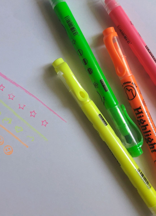 Двухсторонний маркер с печатками (4 шт)