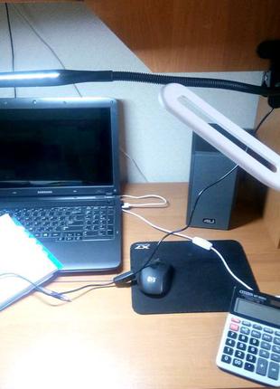 Настольный светодиодный светильник-прищепка,зажим,лампа,USB,лед