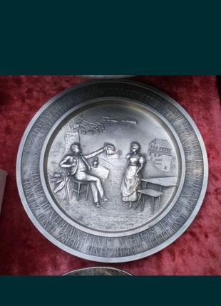 Продам оловяная, олово тарелка немецкая