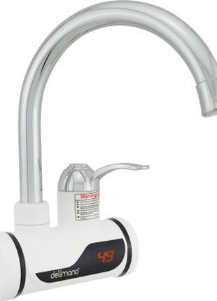 Проточный электрический водонагреватель Delimano c LCD экраном