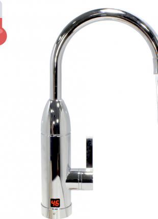 Кран-водонагреватель Oping OP-L11 Silver с дисплеем мощность 3 кВ