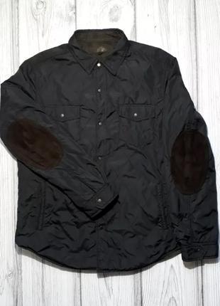 Куртка муж. Massimo Dutti, XL, двухсторонняя (черный+коричневыйкв