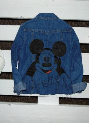 Крута джинсова рубашка з мікі маусом фірми george ріст 140-146