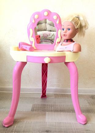 Игрушечная мебель для макияжа с манекеном
