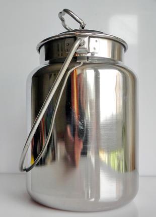 Бидон , молочник 3л. из нержавейки, нержавеющей стали