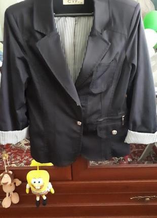 Пиджак, блейзер, жакет темно-синего цвета