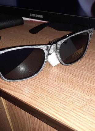 Мужские солнцезащитные очки в стиле ray ban под дерево