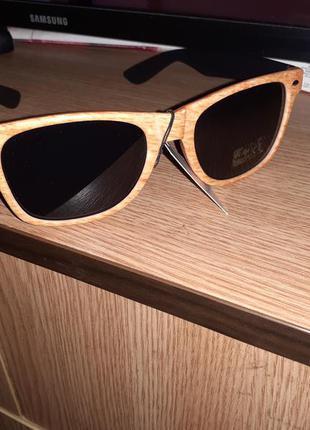 Мужские солнцезащитные очки под дерево в стиле ray ban