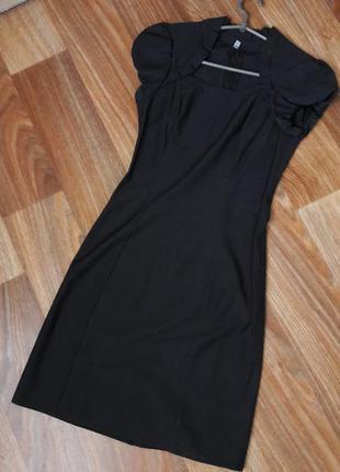 Классическое строго платье цвета мокрый асфальт