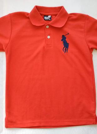 Яркое поло футболка ralph lauren размер 134