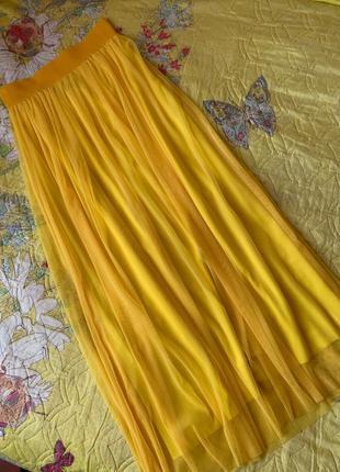 Юбка женская желтая