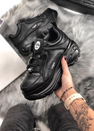 Жіночі кросівки Buffalo Black | Женские кроссовки платформа
