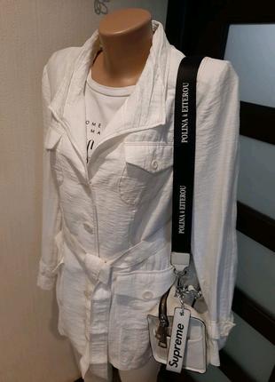Стильный брэндовый длинный пиджак жакет блейзер кардиган рубашка