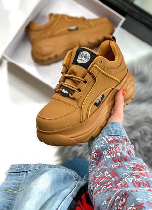 Жіночі кросівки Buffalo Mustard | Женские кроссовки платформа
