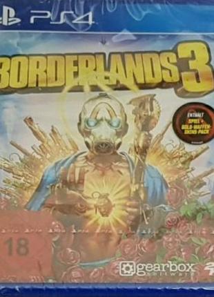 Borderlands 3 (русская версия) PS4. новый, запечатанный!!!