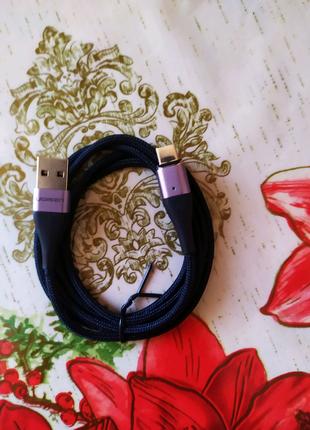 Магнитный кабель ugreen type C, шнур для зарядки