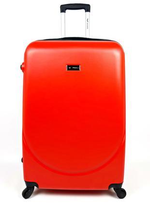 Большой пластиковый четырехколесный чемодан на колесах wings, ...
