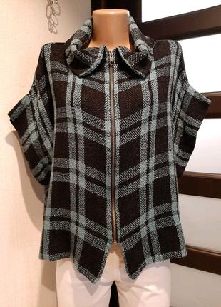Стильная рыхлая блузка рубашка кофточка пиджак жакет жилетка овер