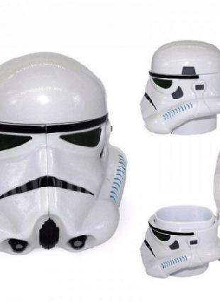 Чашка Кружка Пластиковая Star Wars 3D Plastic Штурмовик (Белая)