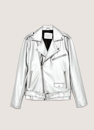 Байкерская кожаная куртка zara man !
