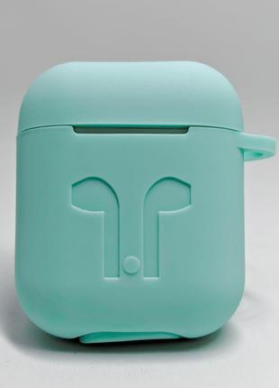 Чохол-силікон AirPods Case з карабіном Mint