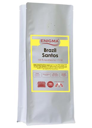 Кофе в зернах свежей обжарки Enigma™ Brasil Santos 100 % арабика.