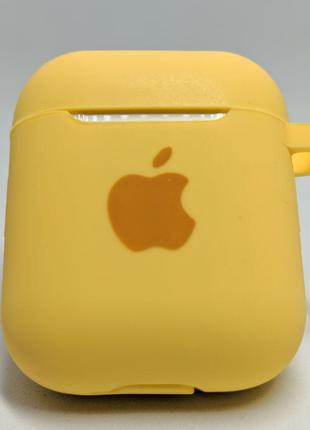 Чохол-силікон AirPods Case з карабіном Yellow