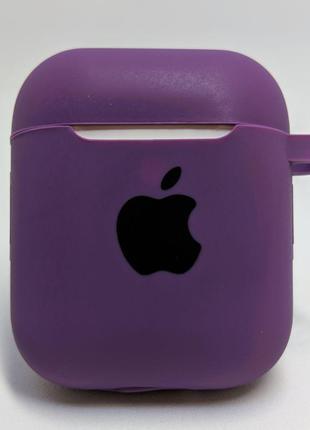 Чохол-силікон AirPods Case з карабіном Purple
