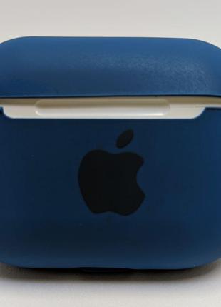 Чохол-силікон iPhone AirPods Pro Case з карабіном Blue Cobalt