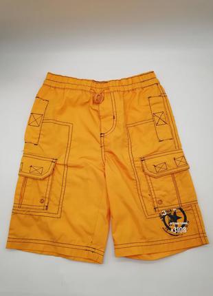 Оранжевые шорты для мальчика бриджи, капри