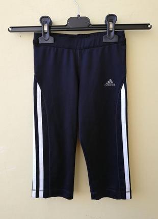 Брендовые спортивные шорты для девочки adidas climalite черные...
