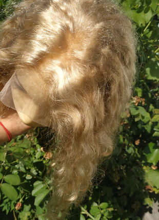 Новый натуральный парик Реми блондинка до 70 см славянские волосы