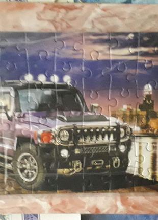Продам картину с машиной Hummer H2  для настенной коллекции.