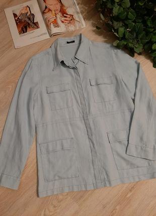 100% лен стильный бледно-голубой пиджак жакет блейзер кардиган ку