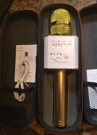Продам два мікрофона вмонтована колонка +блютуз