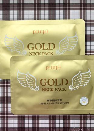 Гидрогелевая маска для шеи petitfee gold neck pack
