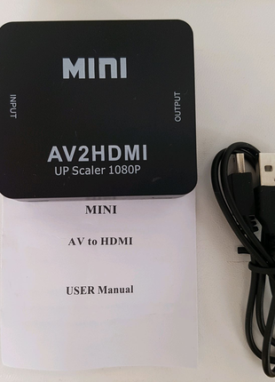 Конвертер адаптер переходник 3RCA to HDMI , AV тюльпаны в hdmi