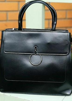 Кожаная женская сумка из натуральной кожи большая жіноча шкіряна