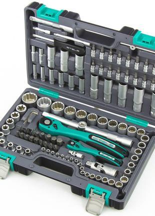 Набор инструмента с пожизн. гарантией STELS 108 ед.+прочный кейс