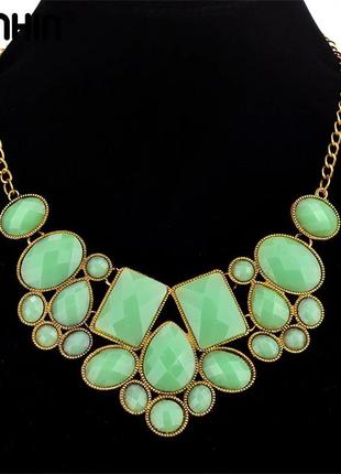 Ожерелье зелёное