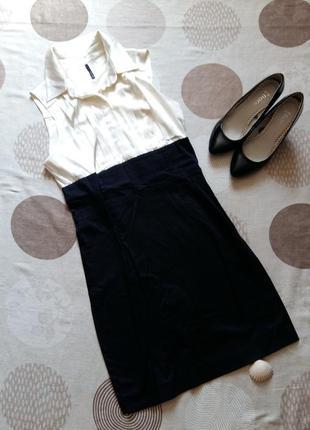 Белое платье  блузка/юбка