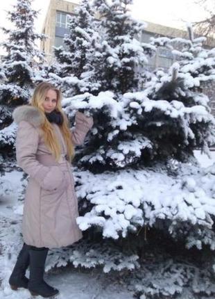 Зимнее пудровое розовое пальто турция