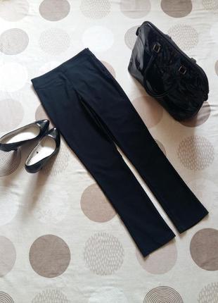 Стильные стрейчевые брюки высокая талия