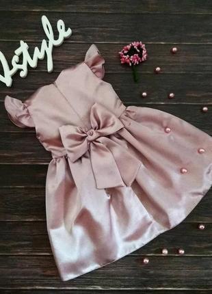 Платье для девочки с бантом и крылышками