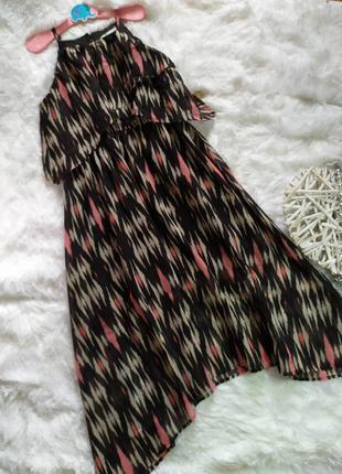 8-9 лет шифоновое платье миди h&m