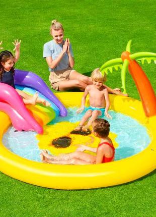 Надувной игровой центр - бассейн Солнышко